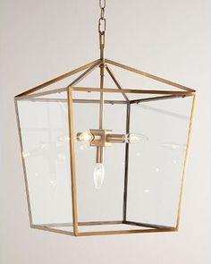 Regina Andrew Design Camden Five-Light Lantern, Brass from Horchow | BHG.com Shop