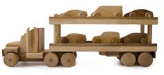 Natural Wooden Transport Truck - Wooden Toys - TOYS :: Big Dreams for the boys