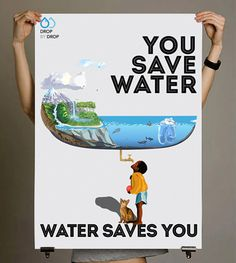 Poster / Newspaper Ad Inspiring to Preserve Water on Behance