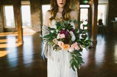 Industrial Indoor Wedding Inspiration | Green Wedding Shoes Wedding Blog | Wedding Trends for Stylish + Creative Brides