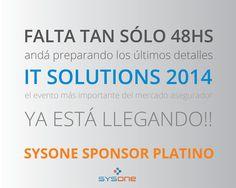 En SysOne estamos ansiosos por compartir nuestras ideas!! IT SOLUTIONS 2014 YA ESTÁ LLEGANDO!