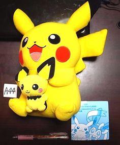 Novelty Pokemon 2013 Pikachu 피카츄 Pichu 피츄 Plush Doll bag With gift Japan imports #Banpresto