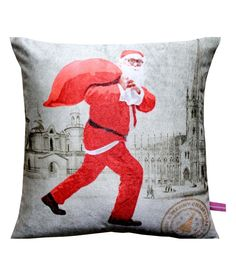Crazy Santa Clause Cushion Cover by Vivora Homes