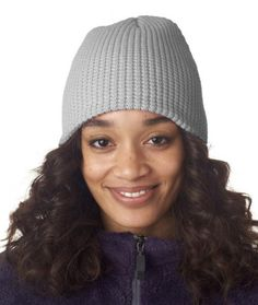 UltraClub Waffle Beanie - Grey  (Also other colors)