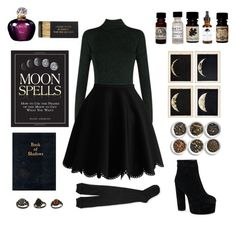 """""""I put a spell on you"""" by willinat ❤ liked on Polyvore featuring Diane Von Furstenberg, Aéropostale, Christian Dior, CB I Hate Perfume, EARTH TU FACE, Tea Collection, Jayson Home, witch, spells and BookOfShadows"""