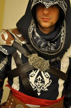 Assassins Creed.  I want to add - any guy is suddenly handsome dressed like this!