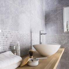 Faïence mur gris, Murano l.30.5 x L.91.5 cm