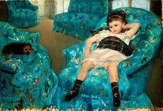 Mary Cassatt, Little Girl in a Blue Armchair (1878). Photo: courtesy National Gallery of Art, Washington, D.C.