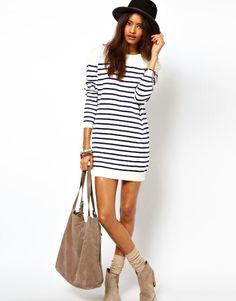 Stripey jumper dress