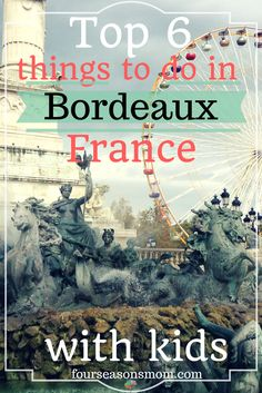 Looking for things to do with kids in Bordeaux, France? There is plenty to see and do that will keep toddlers, kids, and their adults having a good time. Check out the blog for 6 free and inexpensive ideas. Happy travels!