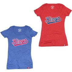 Sacramento Kings Ladies Retro Comfy Scoop Neck T-Shirt from Sportiqe is a cotton/polyester/rayon (25/50/25) blend ladies t-shirt and features a retro logo screen printed across the front chest.
