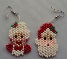 Mr and Mrs Santa earrings