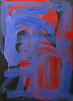 Rosa Allison, Black, Red, Purple(2014). Oil on canvas, 1100x1500mm $POA
