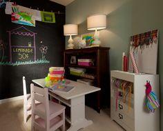 Perfect craft room for developing toddlers. Lauren Nicole Designs | Children's Room Nursery Interior Design Charlotte NC Waxhaw