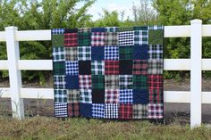 Flannel/plaid quilt I made for my cowboy dad.