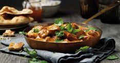 Kylling med Tikka Masala | Oppskrift fra Santa Maria Naan, Santa Maria, Kung Pao Chicken, Thai Red Curry, Meals, Ethnic Recipes, Food, Meal Ideas, Egg