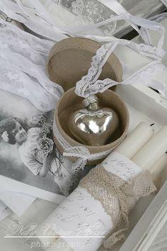 Silver glass heart ~