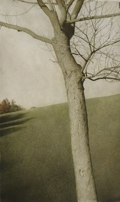 Autumn -  Marzio Tamer - drybrush watercolor on Arches paper