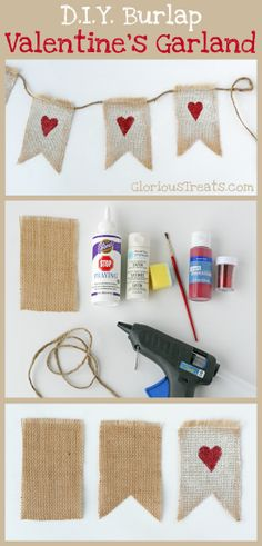 How about a Valentine's Day burlap garland?