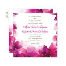 Vivid Blooms Summer Wedding Invitations