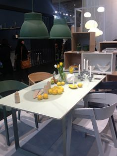 70/70 table and Cover chairs by Muuto.