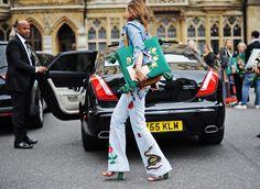 Streetstyle shots from Gucci Cruise show in London ! by Alice Zielasko  Tina Leung Susie Bubble Asap Rocky Georgia May Jagger  Alexa Chung Soko Bryan Boy Car