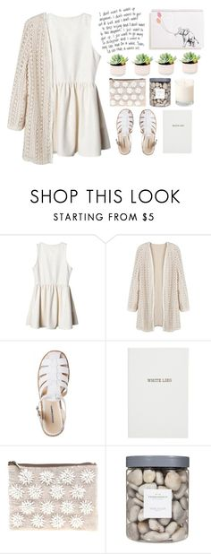 """every day it's like battle, but every night with us is like a dream"" by lolxbye ❤ liked on Polyvore featuring Sloane Stationery, ASOS and Threshold"