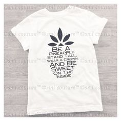 Be A Pineapple Kids Graphic Fashion Tee Shirt by smlcouture