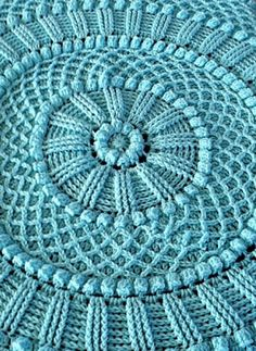 Ravelry: Project Gallery for Lille Matelassé Circular Baby Afghan pattern by…