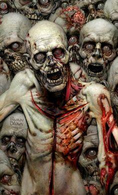 Awesome zombie artwork by Ryan Brown💀 Zombie Kunst, Zombie Art, Zombies, Arte Black, Apocalypse Art, Nuclear Apocalypse, Horror Artwork, Fear Of Flying, Desenho Tattoo