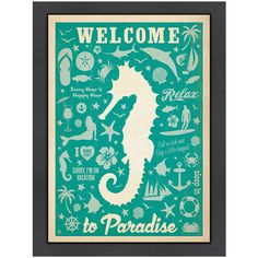 Bring a touch of the seaside to your d�cor with this imaginative coastal print.    Product: Framed printConstruction Mater...