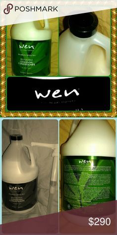 "WEN Chaz Dean BAMBOO TEA TREE-CLEANSING  128 Fl-oz GALLON /Rare Product,Highly Recommended+Sought after/ Various Seasonal""s WEN Conditioner,use as Shampoo/Seasonal's are Special Blends High Potent Effective Hair Ingredients/Website $256-Without tax+shipp-Include all-$300/$350 FOR-All Hair Types,All Ethnicity/ Fine,Normal,Dry,Oily,Wavy,Curly-Kink,Frizz,Poof,Coarse,Natural hair,Perm Combat TO Your HAIR ISSUE GIFT'-WEN Booklet Value/SEALED/ Enclose Hair Pump/NEW NEVER USED/Only'-1'(Won't Last)…"