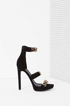 Jeffrey Campbell Sorry Not Sorry Suede Heel |