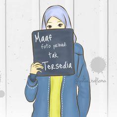 """Dunia Muslimah di Instagram """"Maaf tidak ada foto pribadi yang dipajang. Maaf jika hanya isinya ini ini saja yang membosankan. Maaf jika tidak kau temukan foto si…"""" Cartoon Quotes, Cartoon Pics, Girl Cartoon, Cute Cartoon, Cartoon Art, Hijab Drawing, Cake Logo Design, Islamic Cartoon, Hijab Cartoon"""