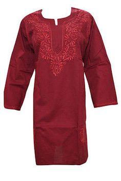 BOHEMIAN-Indian-KURTI-COTTON-MAROON-EMBROIDERED-LONG-KURTA-TUNIC-DRESS-XL  http://stores.ebay.com/mogulgallery/DESIGNER-KURTI-/_i.html?_fsub=665889019&_sid=3781319&_trksid=p4634.c0.m322