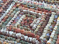 square crochet rag rug