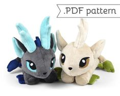 **THIS IS FOR A SEWING PATTERN, IT IS NOT FOR A FINISHED PLUSH**  ⌠ kirin plush .pdf pattern ⌡  This listing is for a .pdf instant download of a plush sewing pattern, made to look like a Kirin (or Qilin), that is the Asian version of a Unicorn. The pattern is for a deer-like creature with some Eastern dragon features and detailed horns.  It is sewing pattern with complete instructions to create the plush from start to finish -- including step-by-step photos and a printable pattern. It…