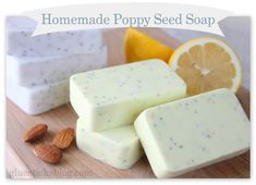 Homemade Poppyseed Soap www.gluesticksblog.com