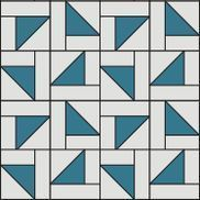 """Sew a Half Square Falling Triangles Quilt. Makes an approximately 90"""" x 108"""" quilt. Supplies needed: • 1 Layer Cake (solid) • 1 Layer Cake (print) • 2 Jelly Rolls (matching solid)"""