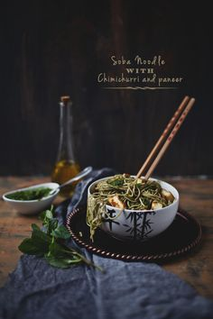 Soba Noodle With Chimichurri And Paneer   Playful Cooking