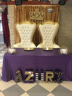 Guests Of Honor Seating At The Royal Princess Babyshower By WS Events
