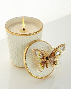 Butterfly Scented Candle by Jay Strongwater at Neiman Marcus.