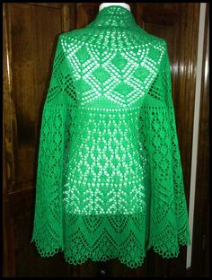 Crochet Patterns Lace Weight Yarn : Swallowtail knit lace shawl in acrylic sport weight yarn (pattern by ...
