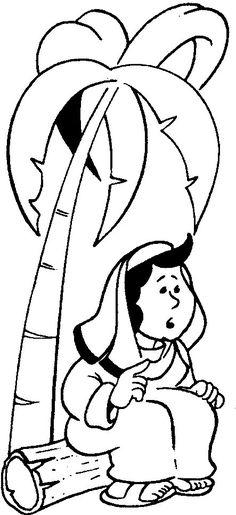 Débora, profetisa e juíza  sentada em baixo de uma árvore