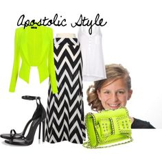 Lime and Chevron! Apostolic Style by ... Love the skirt! Lime green isnt my color, but any color would go with