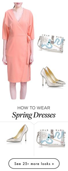 """Half Batwing Sleeve Kimono Wrap Daily Wear To Work Dress"" by nanayau on Polyvore featuring Emy Mack and Dolce&Gabbana"