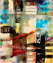 City Stories I  by Sara Abbott prints for sale. City Stories I Abstract canvas, acrylic, custom frame prints. Orientation: vertical . Color tones: