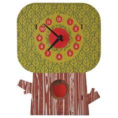 Modern Moose Apple Tree Pendulum Wall Clock #ModernMoose #Contemporary
