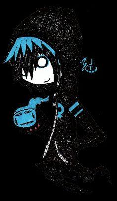 Demiseman Dark Art Illustrations, Illustration Art, Sushi Drawing, Arte Emo, Scary Drawings, Emo Art, Creepy Pictures, Graffiti Drawing, Chibi Girl