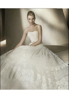 Lace Bodice with Corset back A-Line Gown Lucky Wedding Dress